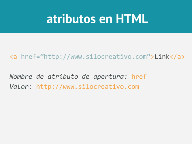 Atributos en HTML