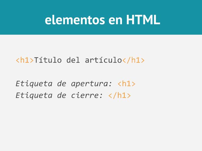 Elementos en HTML