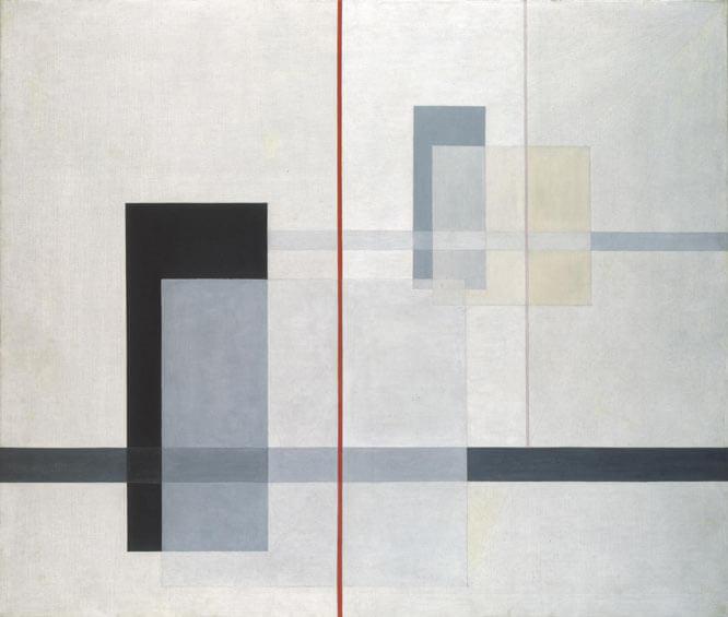 Composición abstracta Laszla Moholy-Nagy K VII