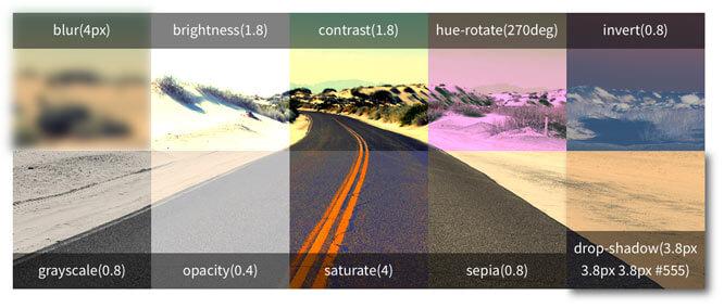 Filtros CSS para imágenes en Diseño Web
