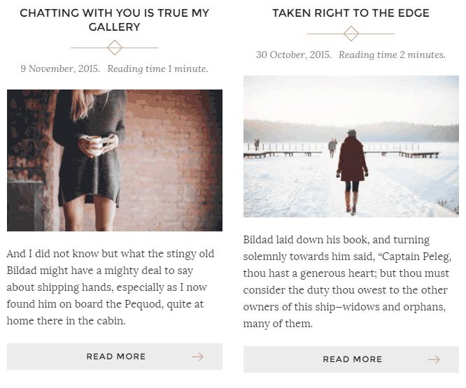 WordPress dos columnas con enlace seguir leyendo