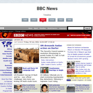 Antigua web de la BBC