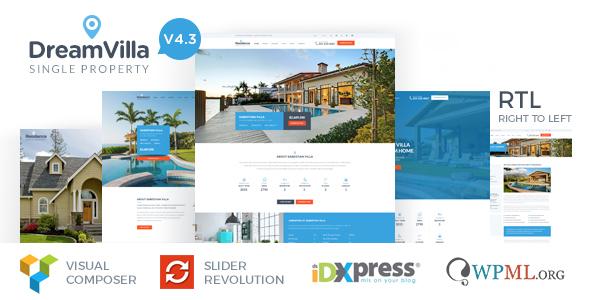 Dreamvilla, plantilla WordPres para Agencias Inmobiliarias