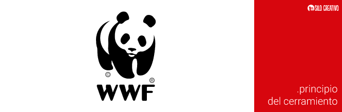 Logo de WWF, ejemplo del principio de cerramiento de Gestalt