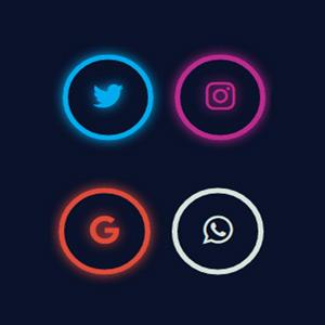 Iconos con efecto glow mediante CSS