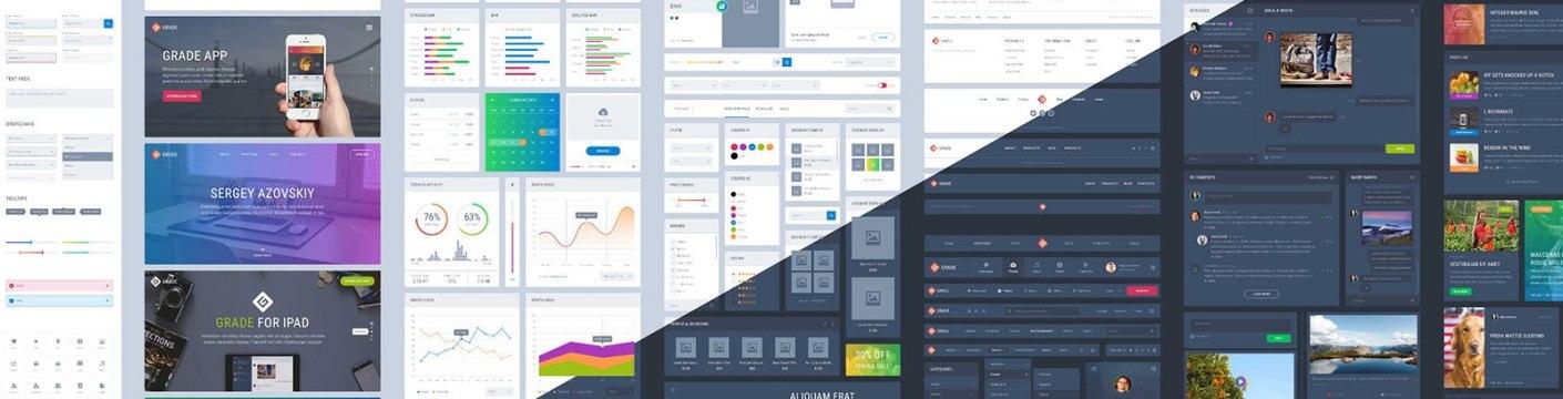 Grade UI Kit para Affinity Designer
