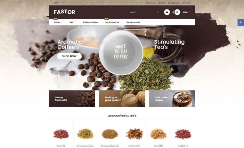 Fastor, plantilla para Shopify