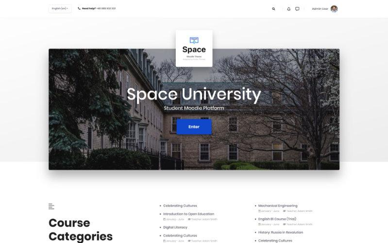 Espace, modèle éducatif pour Moodle