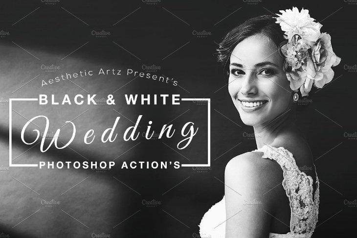 Black & White, acciones de Photoshop para bodas