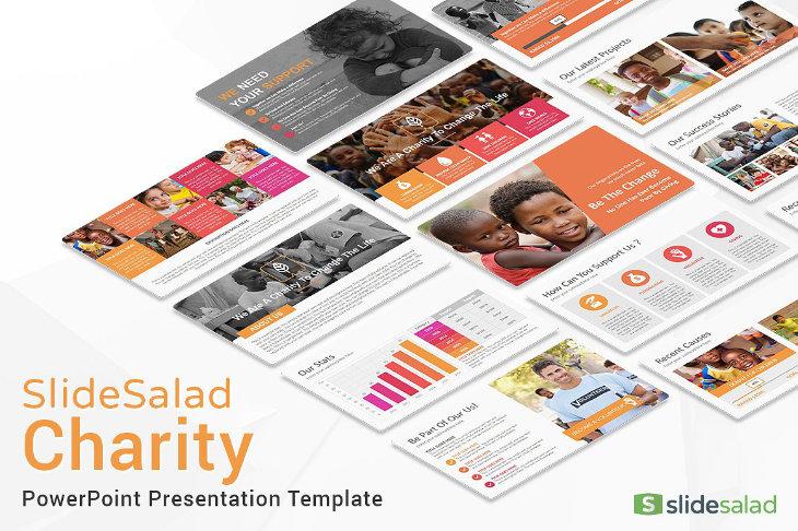 Charity, plantilla original para PowerPoint