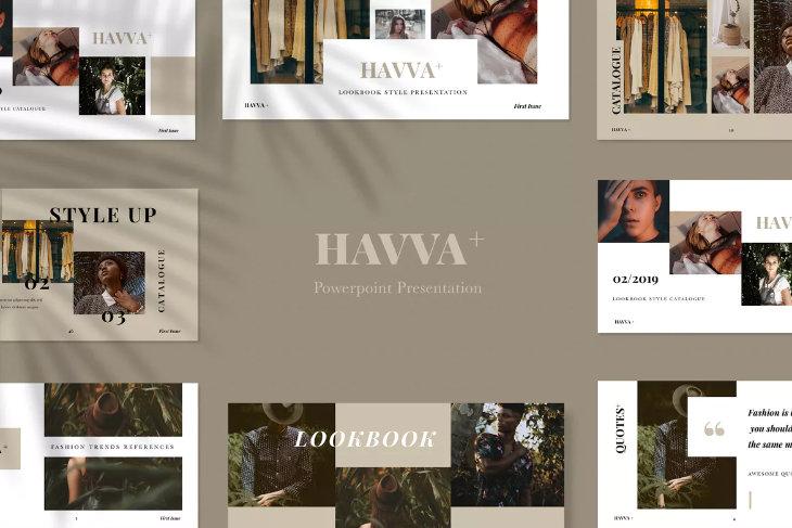 Havva+, plantilla original para PowerPoint