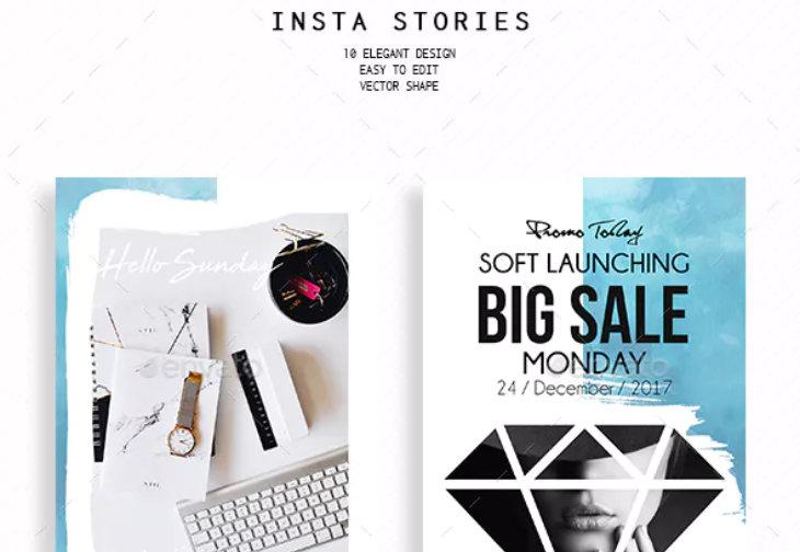 Masks, plantilla para Instagram Stories