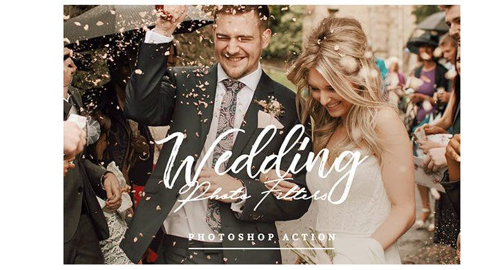 Wedding Photo Filters, acciones de Photoshop para bodas