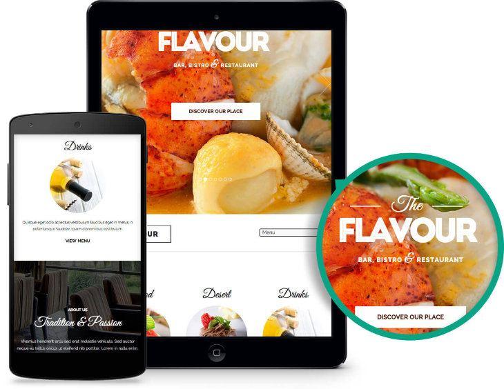 The Flavour, plantilla WordPress para restaurantes