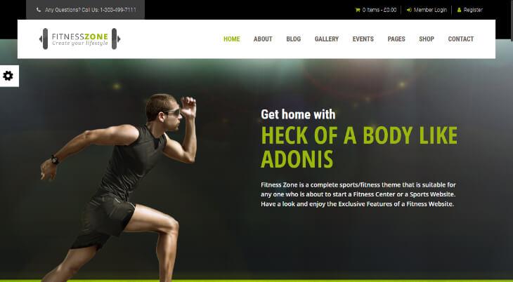 Fitness Zone, plantilla WordPress para gimnasios, centros deportivos y de fitness