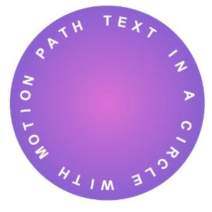 texto siguiendo una forma circular