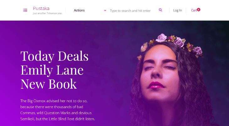 Pustaka, plantilla WordPress para autores, escritores y editores