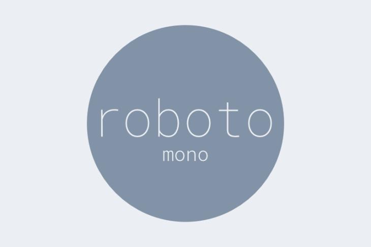 Roboto Mono, tipografía monoespaciada