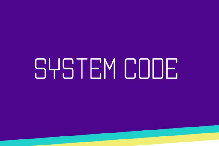 System Code, tipografía monoespaciada