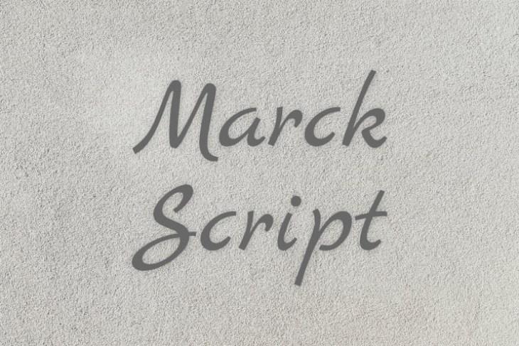 Marck Script, tipografía estilo handwritting