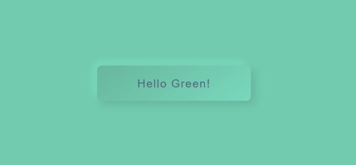 neumorfismo botón verde modo concavo