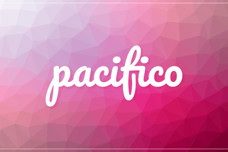Pacifico, tipografía estilo handwritting