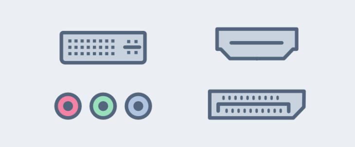 conexiones de monitor de pc