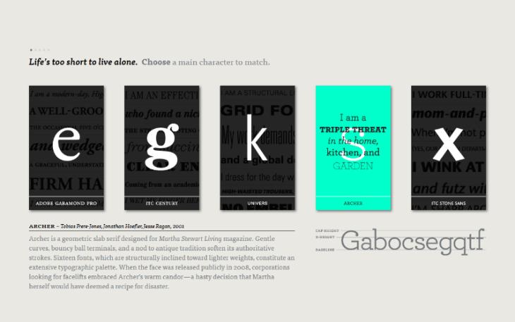 Type Connection, juego con tipografías