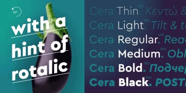Cera Pro, tipografía geométrica para tus proyectos