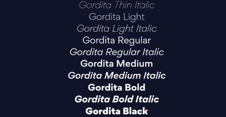 Gordita, tipografía geométrica para tus proyectos