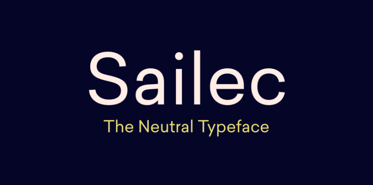 Sailec, tipografía geométrica para tus proyectos