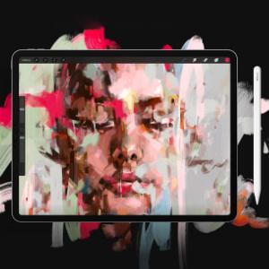 app de dibujo en tablet