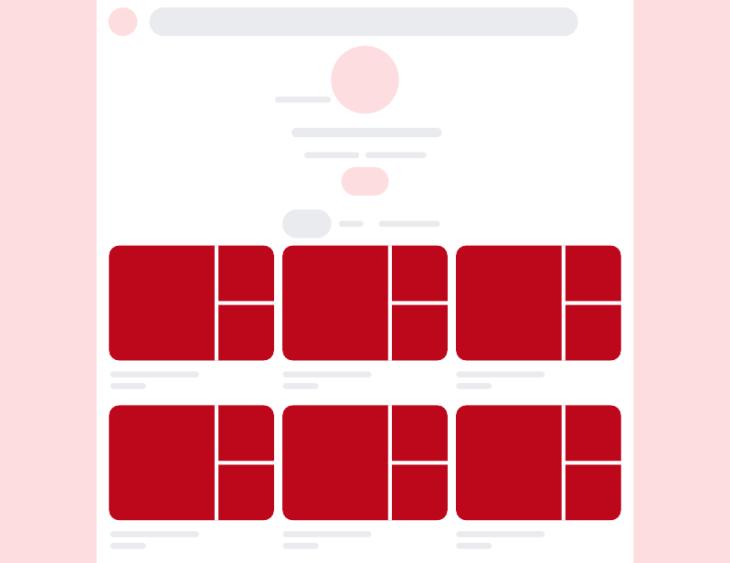 Posición de boards en Pinterest