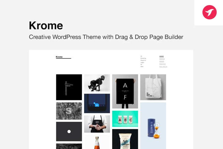Krome, plantilla WordPress minimalista