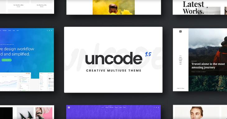Uncode, plantilla WordPress minimalista
