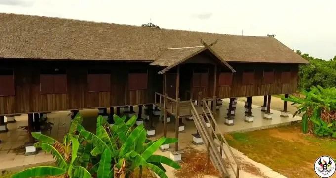 Rumah adat terbaru Kalimantan Tengah