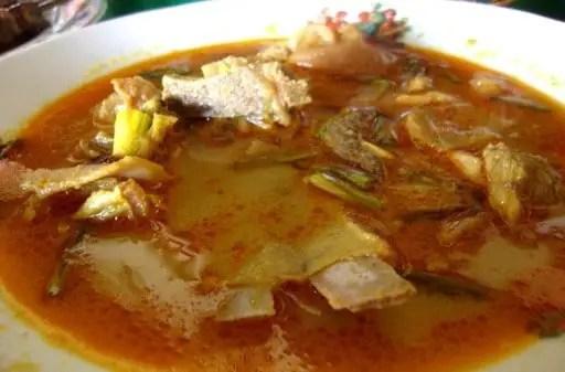 Uraian tentang Makanan Bagar Hiu Tradisional Bengkulu yang lemak juga lezat