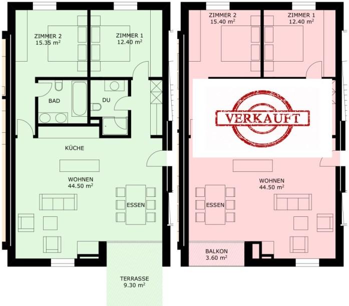 Wohnung 3.1 & 3.2