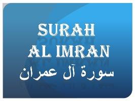 Surah Al-e-Imran Maariful Quran