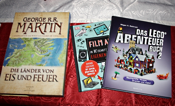 Landkarten, Filmbuch, Legobuch