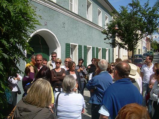 Wir bekamen auch eine Stadtführung durch Neunburg
