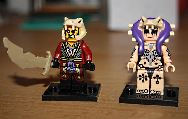 Anführer und Kriegerpriesterin