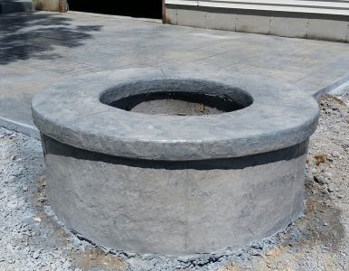 Stamped Fire Pit