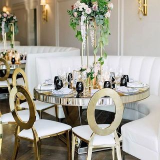 Round tables and chairs