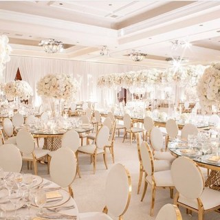 round tables with chair for events