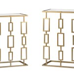 Gold Drop End Table