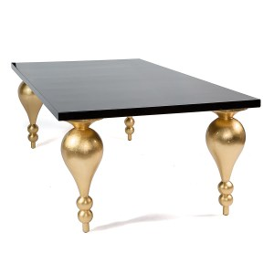 Nicole Dining Table Black And Gold