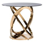Gold Twist Cocktail Table