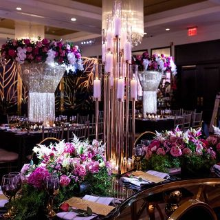 Event decoration with flowers