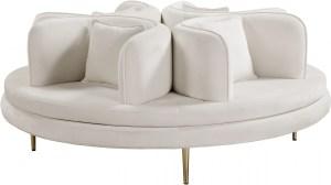 Circlet Velvet Roundabout Sofa Cream